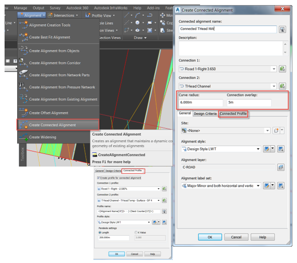 How to create a turning head in autocad civil d