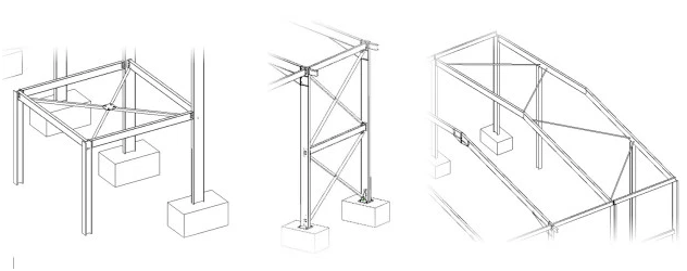 Revit 2019 Tutorial Part 1 Adding Vertical Bracing Systems - One-hundred-triangles-stool